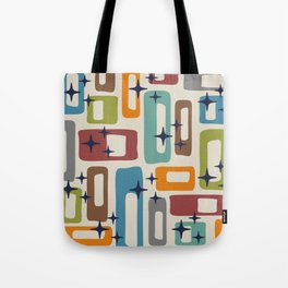 Retro Mid Century Modern Abstract Pattern 224 Tote Bag