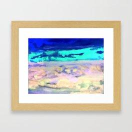 Icey Night Framed Art Print
