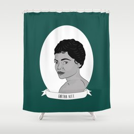 Eartha Kitt Illustrated Portrait Shower Curtain