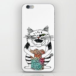 Emotional Cat. Playful. iPhone Skin