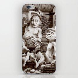 Putin and Trump in the Russian bath iPhone Skin