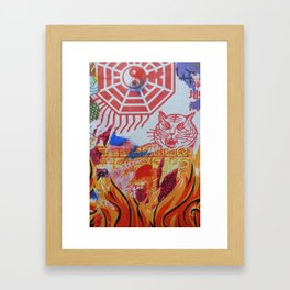 Burnin' Paper 3 Framed Art Print