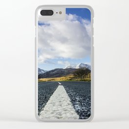 Road To Snowdon Clear iPhone Case