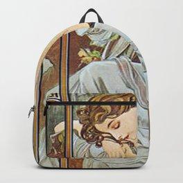 Alphonse Mucha Nocturnal Slumber Backpack