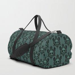 Halloween Damask Teal Duffle Bag