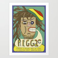 reggae Art Prints featuring Reggae by Timea Koncz