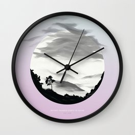 [3.31—4.04] Distant Thunder Starts to Sound Wall Clock
