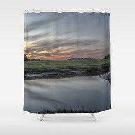 Ocean River Sunset in Essex Shower Curtain