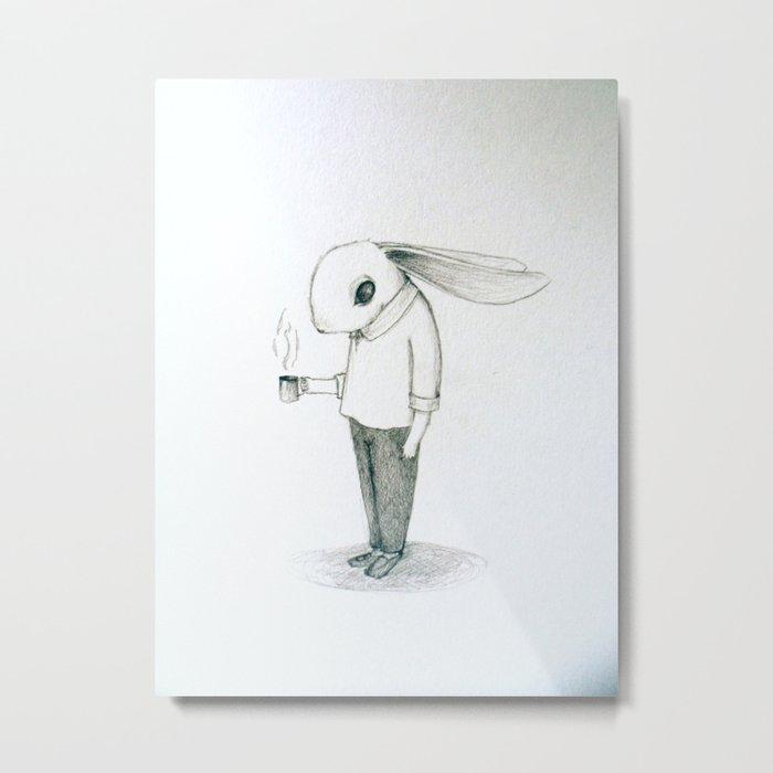 coffee bunny Metal Print