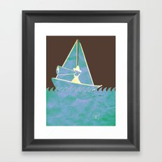 Looking in the Wrong Direction Framed Art Print