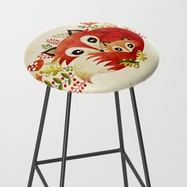 Fox Mom & Pup Bar Stool