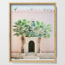 """Travel photography print """"Magical Marrakech"""" photo art made in Morocco. Pastel colored. Serving Tray"""