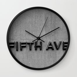 Fifth Ave NYC Wall Clock