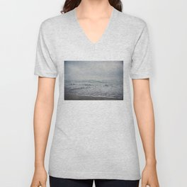 a stormy Pacific Ocean, Oceanside, California Unisex V-Neck