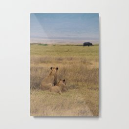 Preparing to Hunt Metal Print