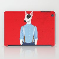 bull terrier iPad Cases featuring Skinhead Bull Terrier by drawgood