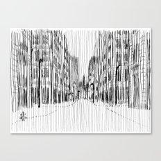 Fog and Rain: Cityscape (WHITEOUT) Canvas Print