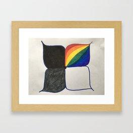 One & Many Framed Art Print