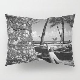 Kuau Beach Palm Trees and Hawaiian Outrigger Canoe Paia Maui Hawaii Pillow Sham