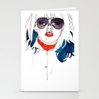 kate bishop Stationery Cards featuring Kate  by Jessica Tobin