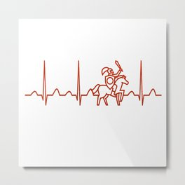 History Teacher Heartbeat Metal Print