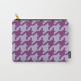 Houndstooth - Purple Carry-All Pouch