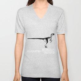 Velociraptor pun speed gift Unisex V-Neck