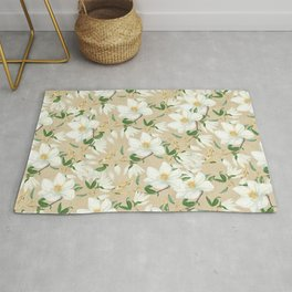 Magnolia in Bloom Pattern Rug