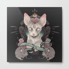 Sphynx - Dark Metal Print