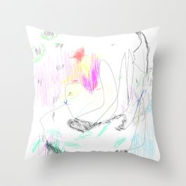 abstract whale Throw Pillow
