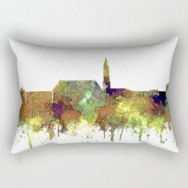 Cheyenne Wyoming Skyline-Safari Buf Rectangular Pillow