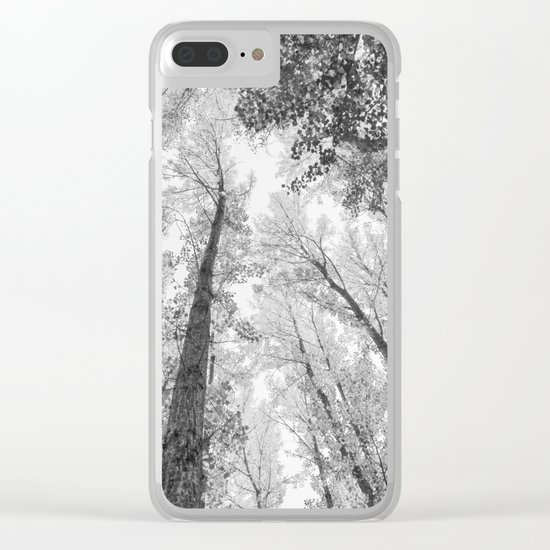 """""""Up in the air II"""" BW Clear iPhone Case"""