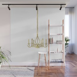 Gold Glam Chic Chandelier Wall Mural