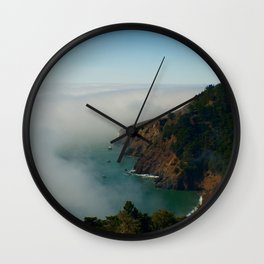 Marin Headlands Fog Wall Clock