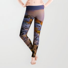Santorini,Greece Leggings