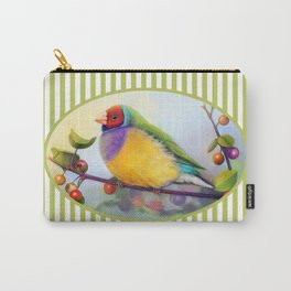 Gouldian finch realistic painting Carry-All Pouch