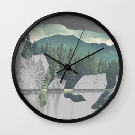 Bull in the Mountains Wall Clock