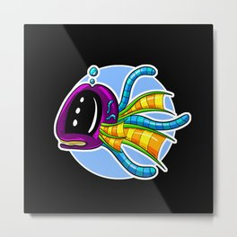 Albert the Tentacle Whale - Underwater Mix Up! Metal Print
