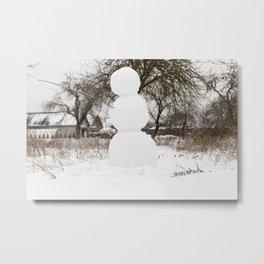 Big Snowman Metal Print