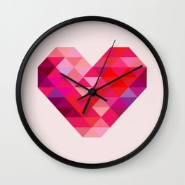Prism Heart Wall Clock
