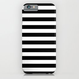Horizontal Stripes (Black/White) iPhone Case