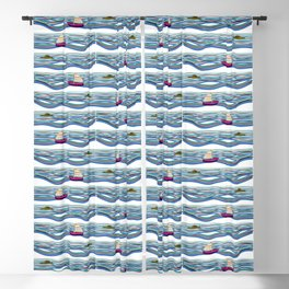 Sailing pattern 1 Blackout Curtain