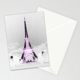 pariS Black & White + Lavender Stationery Cards