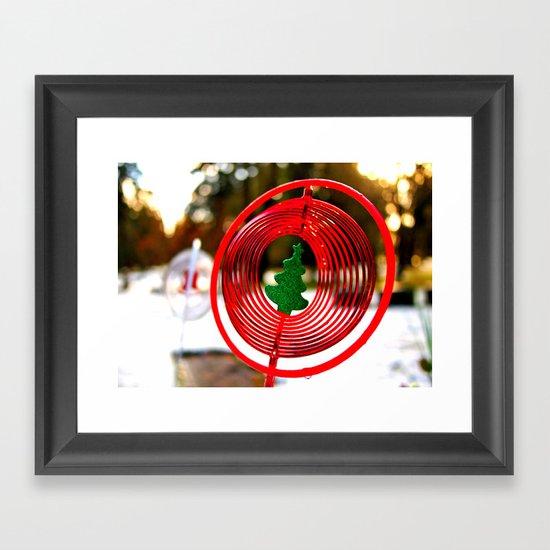 Winter ornament Framed Art Print