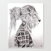reggae Canvas Prints featuring Reggae Lion by SABIN.M