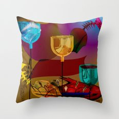 Lazy Lamps Throw Pillow