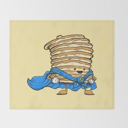 Captain Pancake Throw Blanket