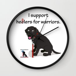 Lab Supports Healers For Warriors Wall Clock