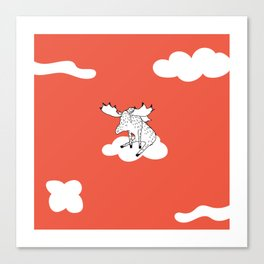 Flying Moose by Amanda Jones Canvas Print