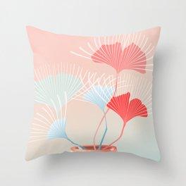 Midcentury Summer Dreams Throw Pillow
